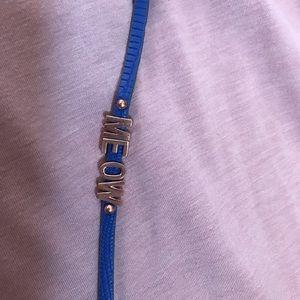 "Affirmation Bracelet says ""MEOW"""